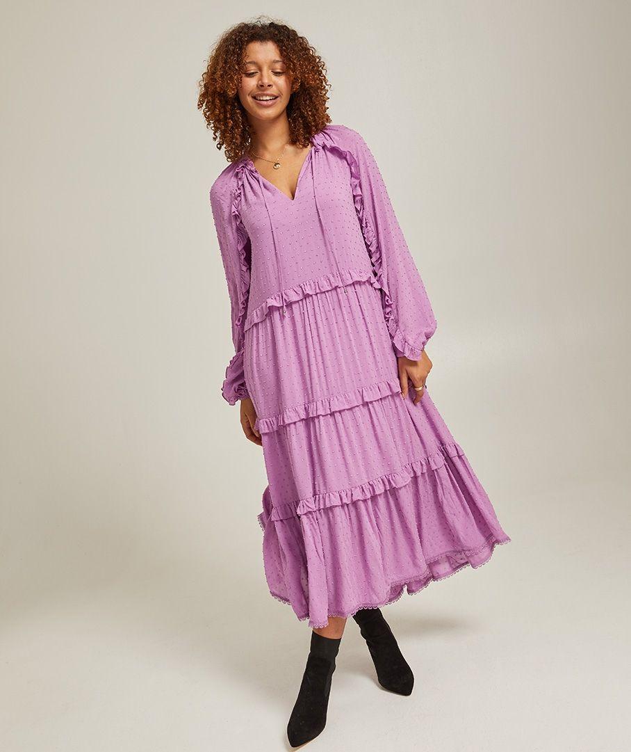 Long Sleeve Dobby Maxi Dress Viscose Maxi Dress Dresses Maxi Dress [ 1081 x 908 Pixel ]