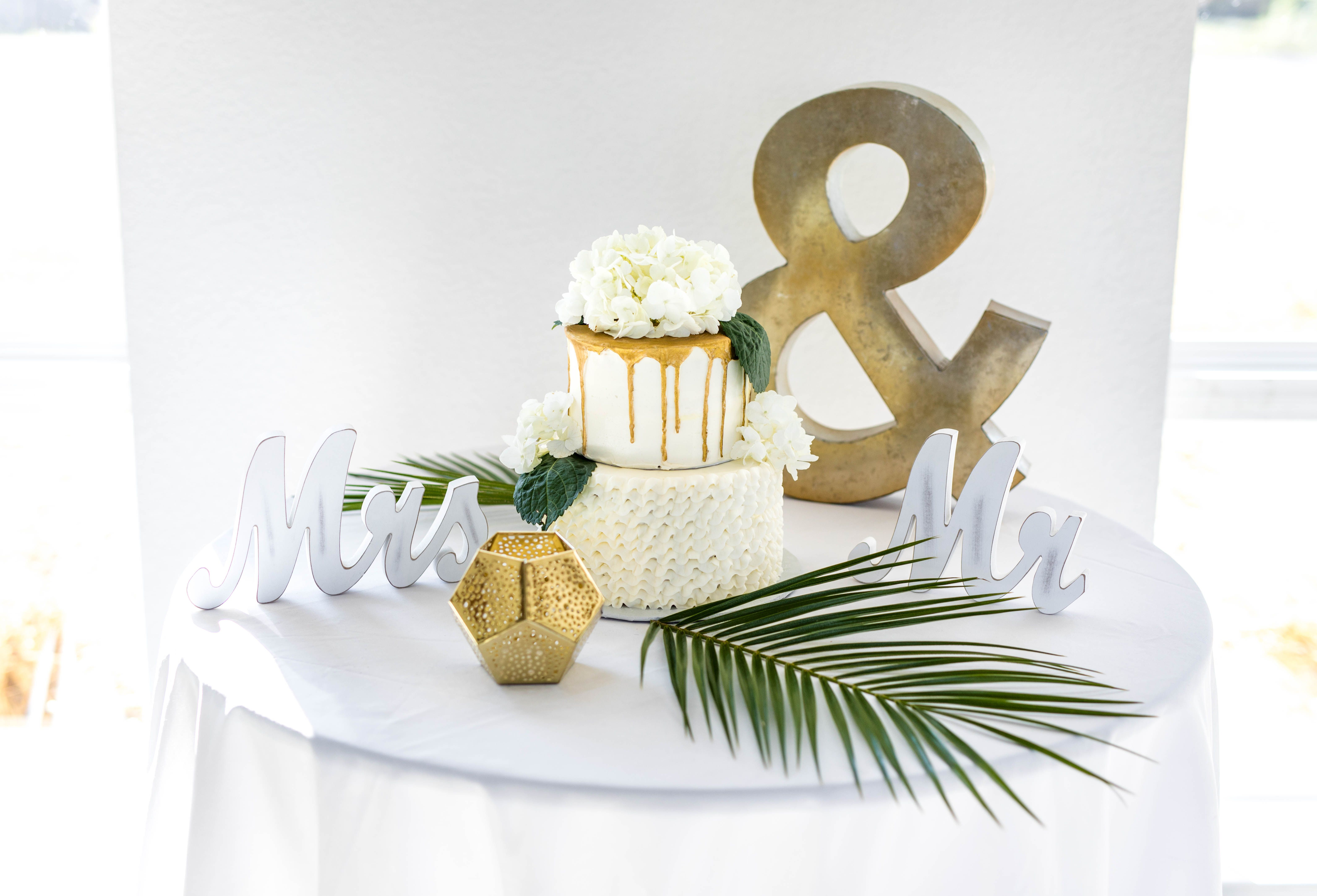 A Gold Drip And Ruffle Cake Made By Kayla Knight Cakes