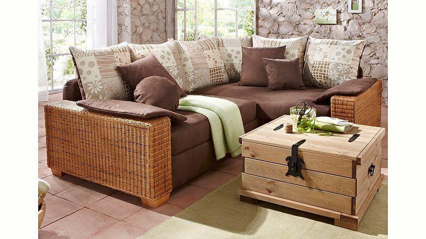 Home affaire Polsterecke »Kenia«, mit Bettfunktion und Federkern - wohnzimmercouch braun