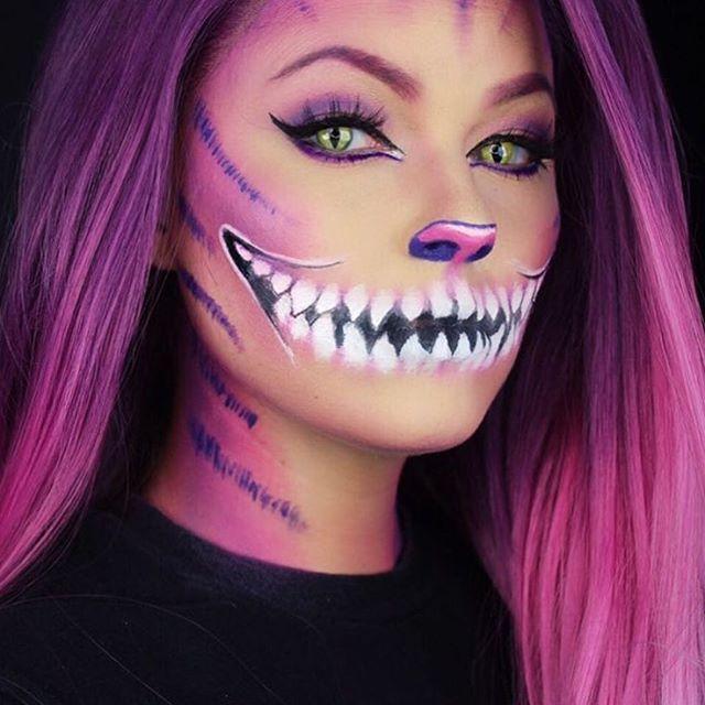 25 Creative Halloween Makeup Ideas Cat Halloween Makeup Cool