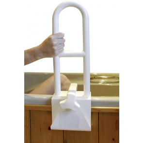 Tub Grab Bar Clamp On bath tub grab bar with handholds for added security. clamp can be