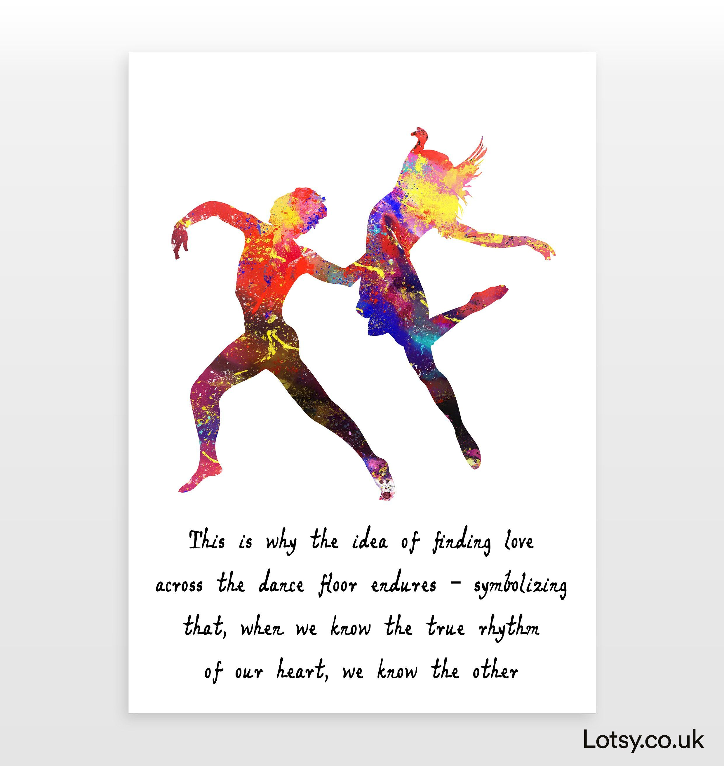 Ballet Quote - This is why the idea of finding - A5 - (148mm x 210mm) (5.8inch x 8.3inch)