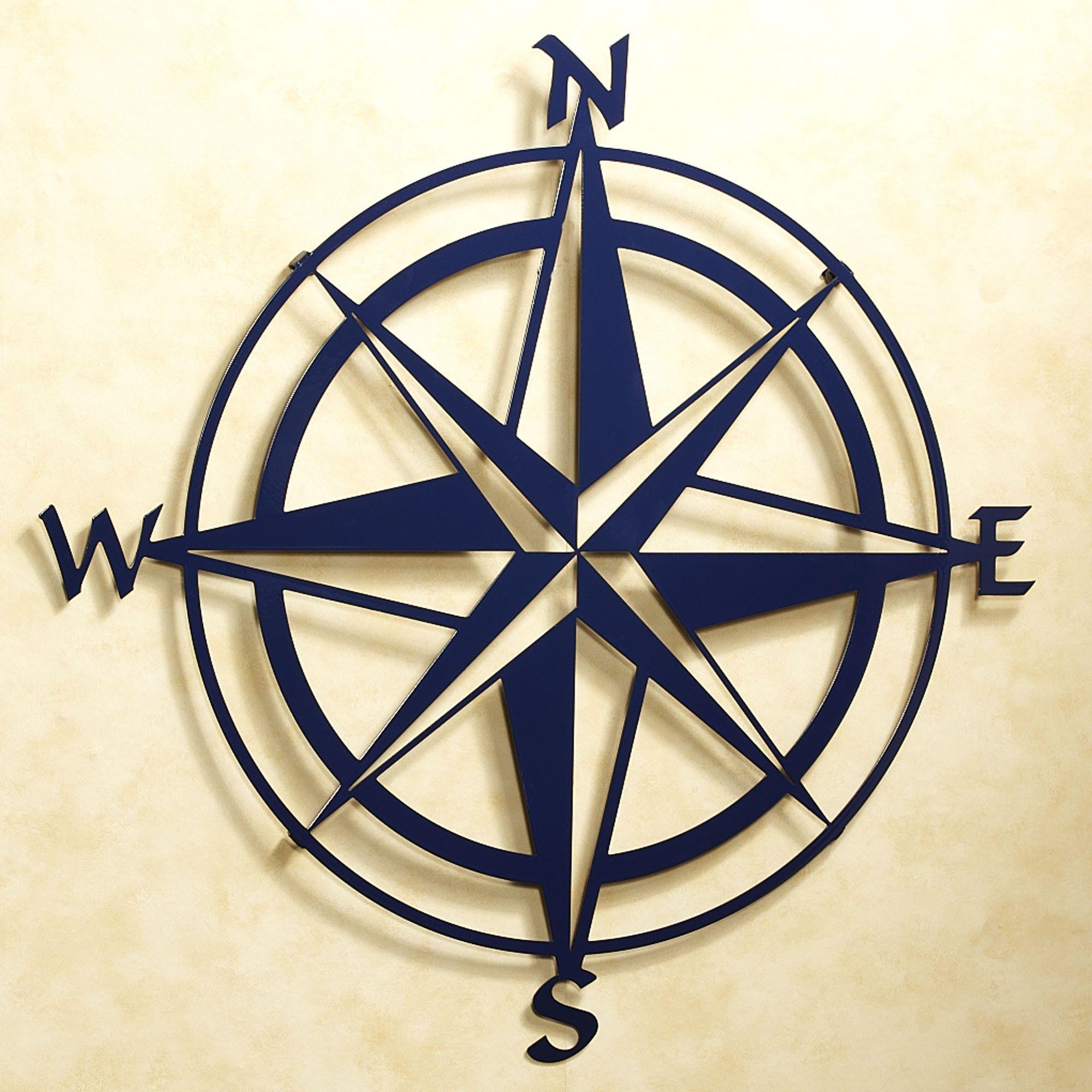 Compass Rose Indoor Outdoor Metal Wall Art Outdoor Metal Wall