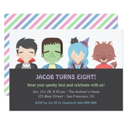 Halloween Kids Monster Birthday Party Invitations - birthday gifts - best of invitation birthday party text