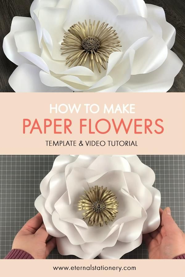 DIY PAPER FLOWER TUTORIAL WITH TEMPLATE