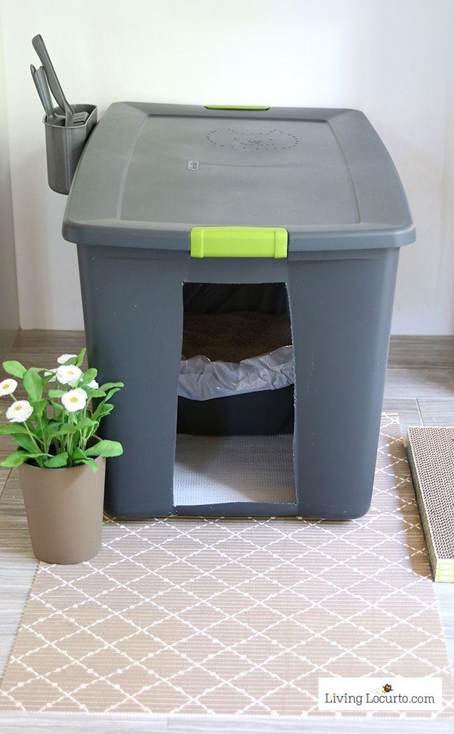 Diy Hidden Kitty Litter Box Ideas Cat Litter Box Diy Cat Training Litter Box Cat Litter