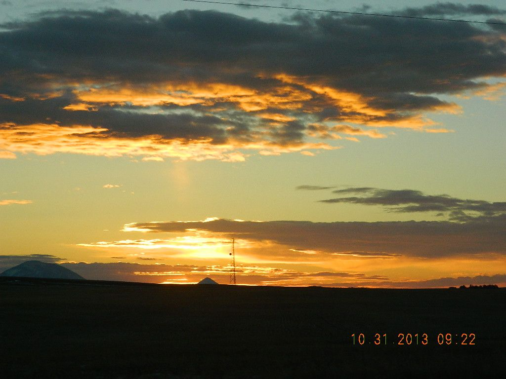 sunrise in Sweetgrass, Montana