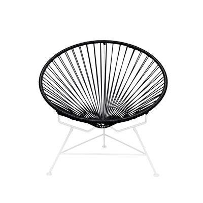 Innit Papasan Chair Finish: White, Upholstery: Black | Pinterest ...