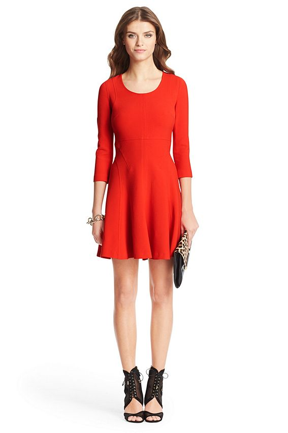 90f67a56690 The DVF Paloma dress is a structured fit and flare style perfect for ...