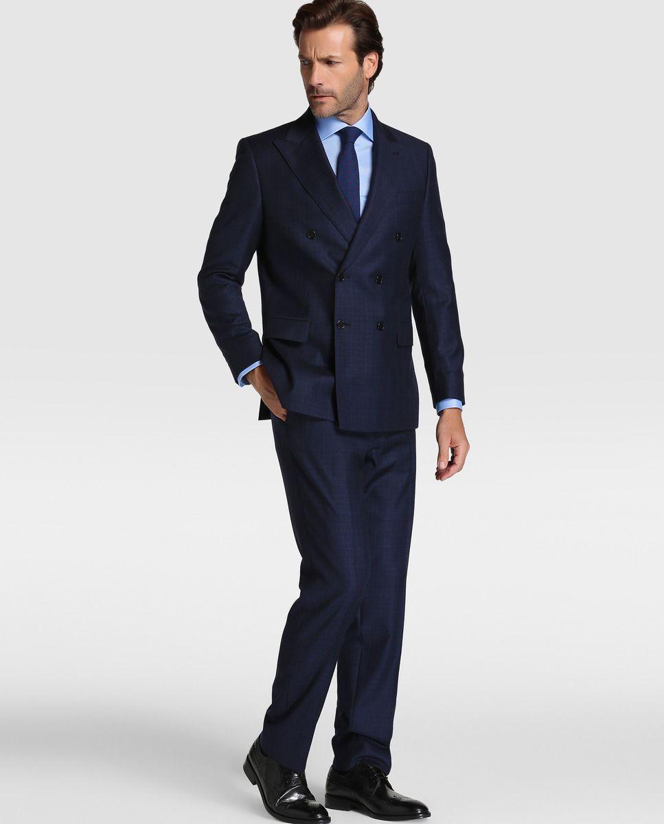 44cf606abd1 Traje de hombre Mirto regular príncipe de gales azul · Mirto · Moda · El  Corte Inglés