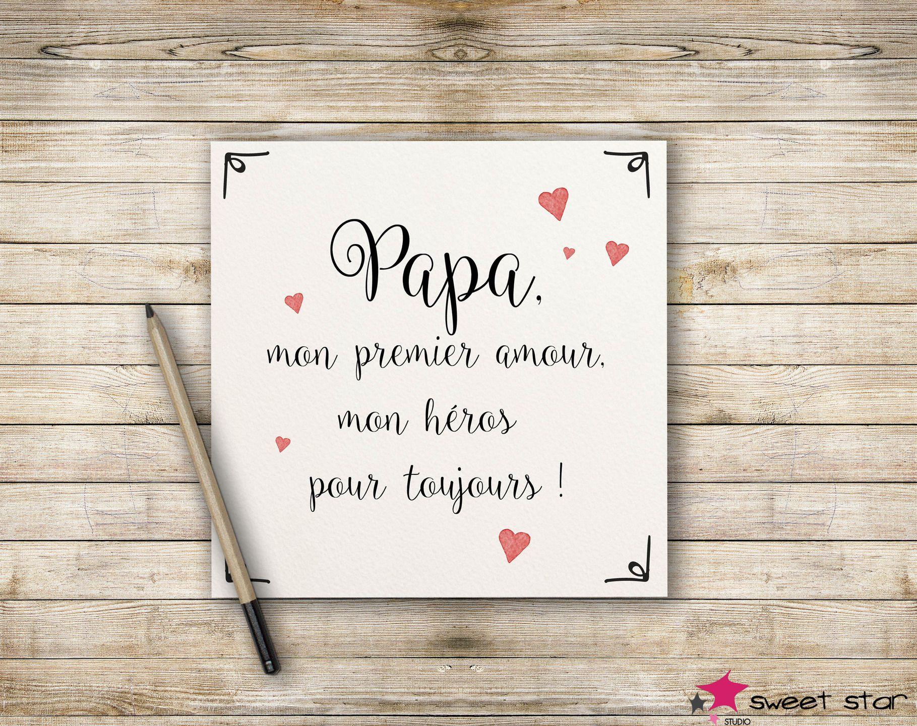 carte de voeux papa Pour mon papa damour Carte papa carte f/ête des p/ères Carte pour papa