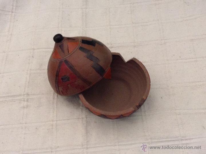 Ceniceros: Bonito cenicero con tapa tapadera de barro cerámica artesanal portuguesa Portugal - Foto 2 - 44456356