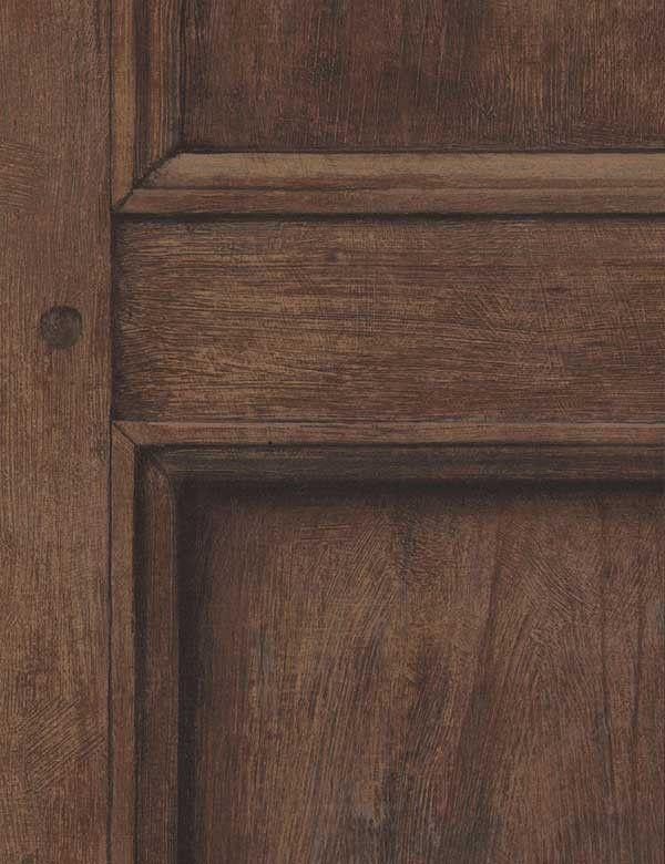 Regent Oak Wallpaper In A Trompe Loeil Wood Panel Design By Andrew Martin
