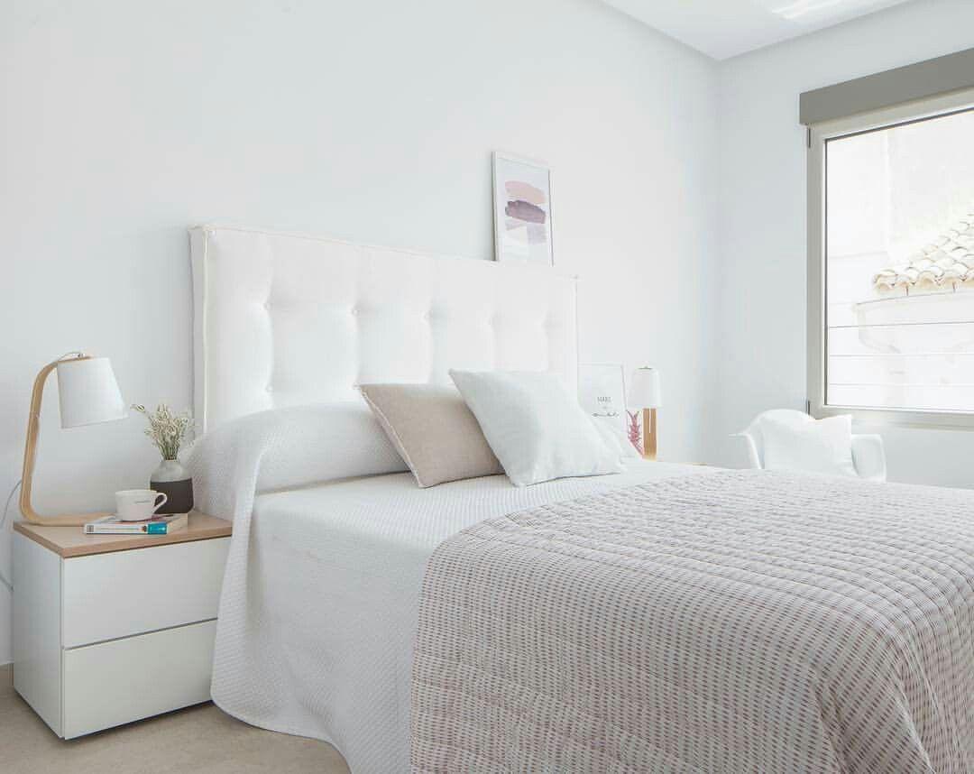 Dormitorio blanco y beige dormitorios pinterest for Decoracion habitacion matrimonio moderna