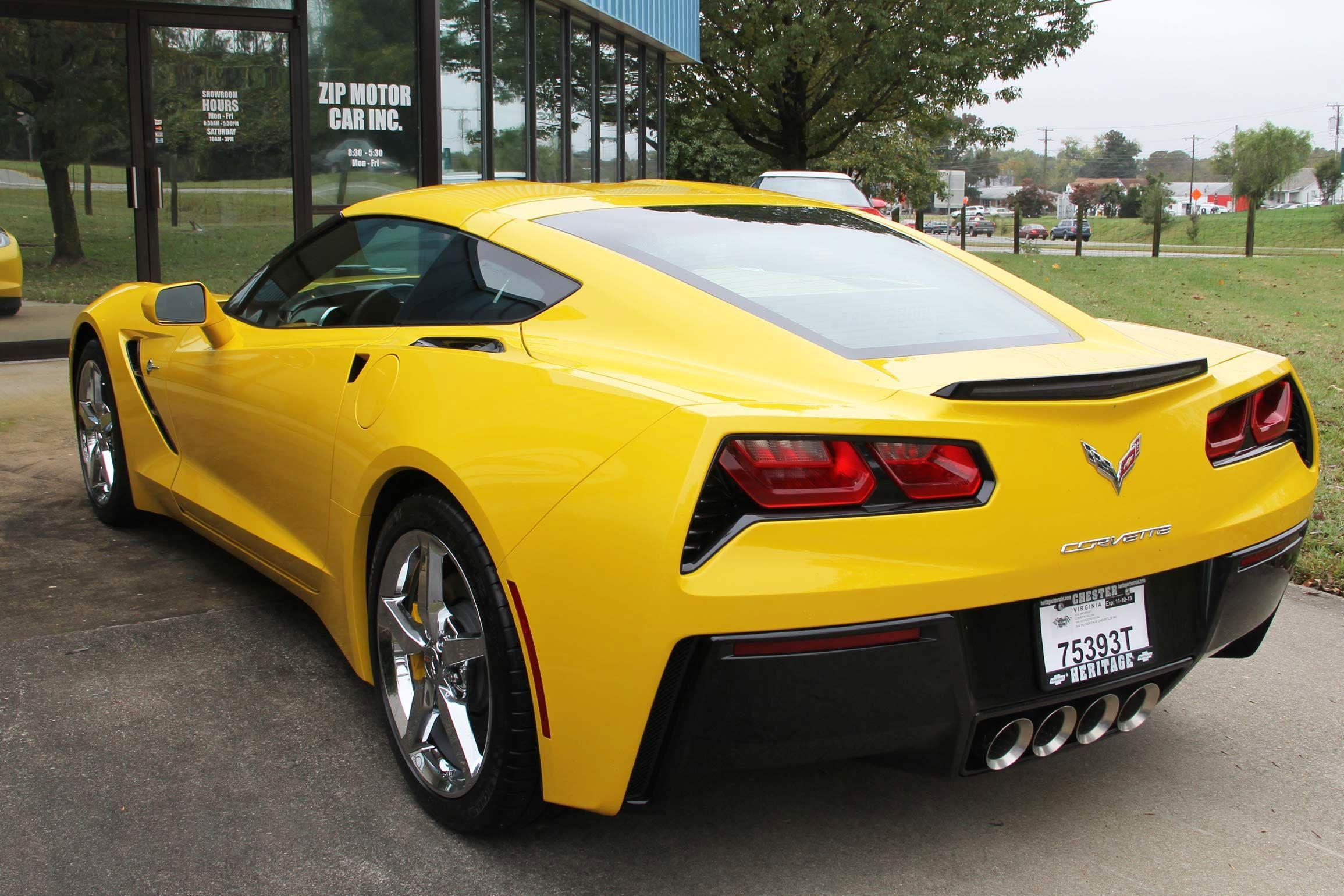 Yellow C7 Corvette Corvette Chevrolet Corvette Hot Cars