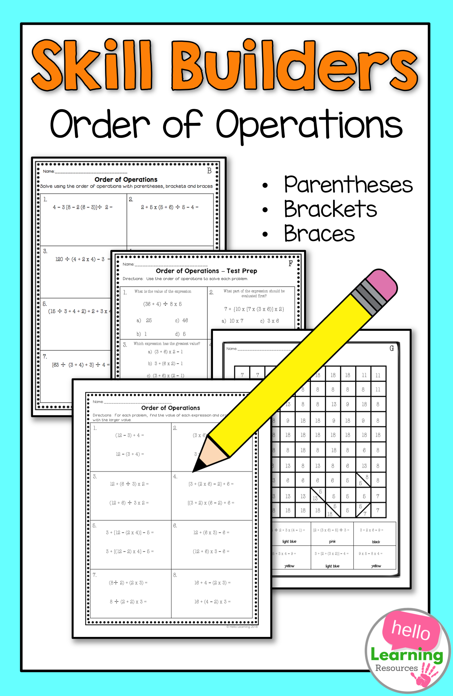 Order Of Operations Worksheets With Images