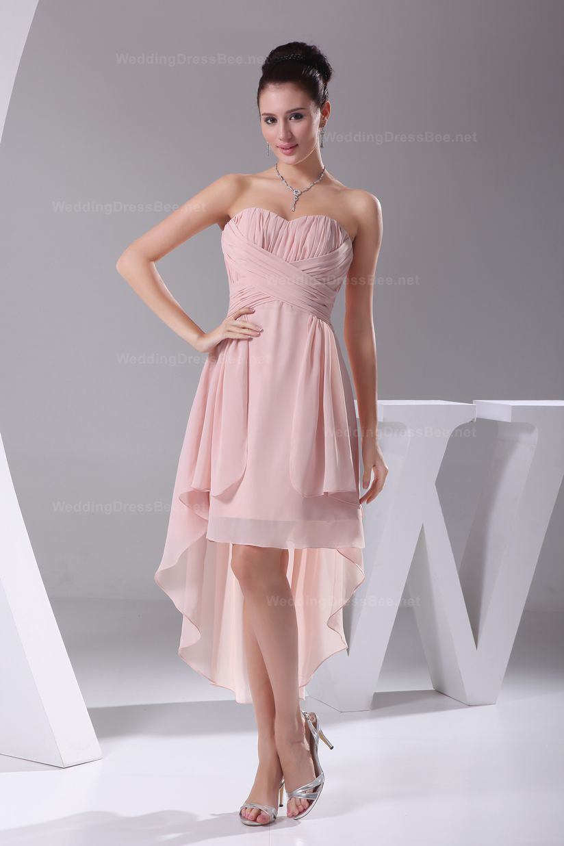 Fashion soft sweetheart high low hem chiffon bridesmaid dress fashion soft sweetheart high low hem chiffon bridesmaid dress ombrellifo Image collections