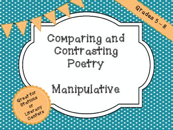 Comparing and contrasting poetry with manipulatives for stations ccuart