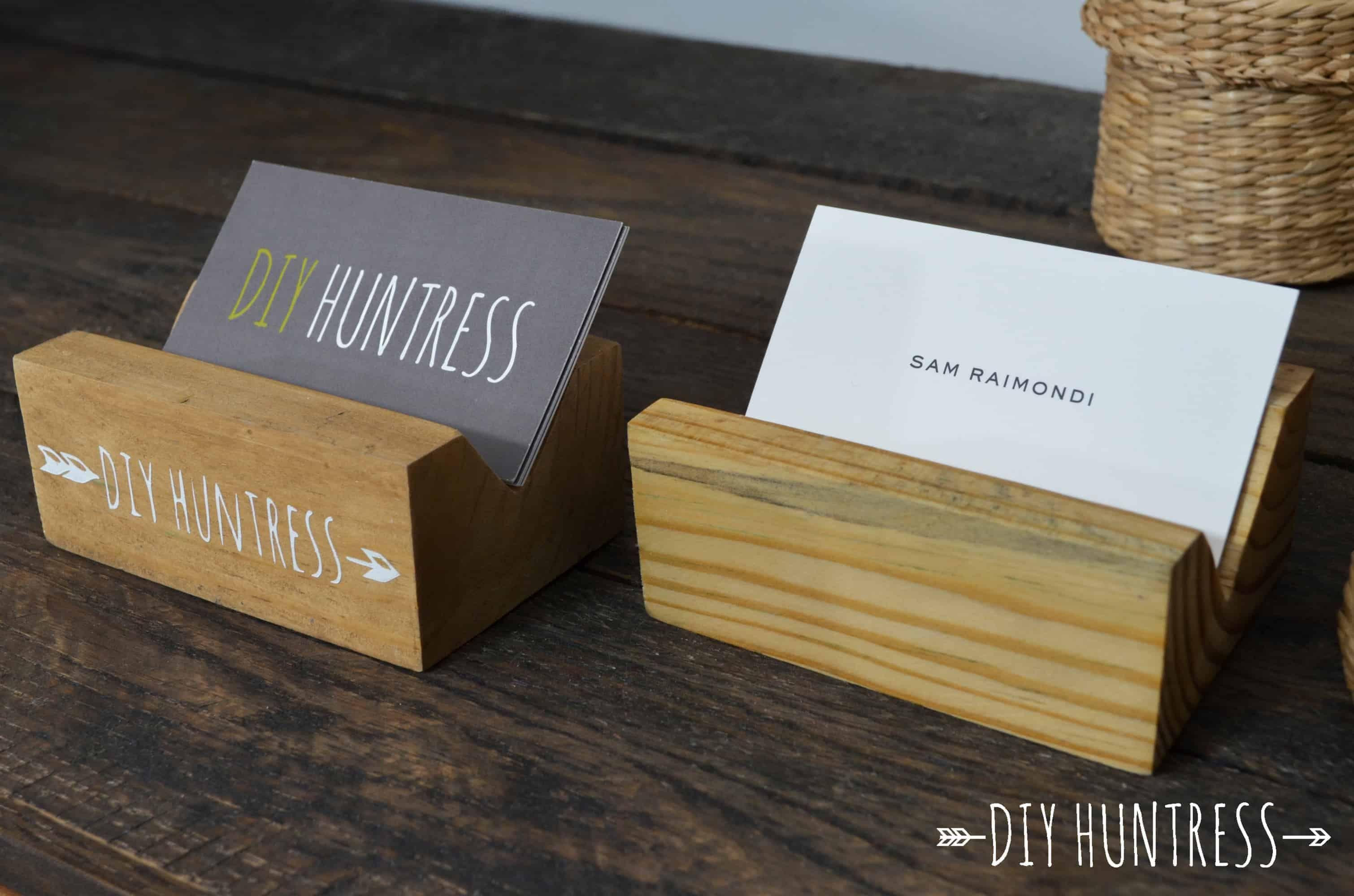DIY Wooden Business Card Holder Wooden business card