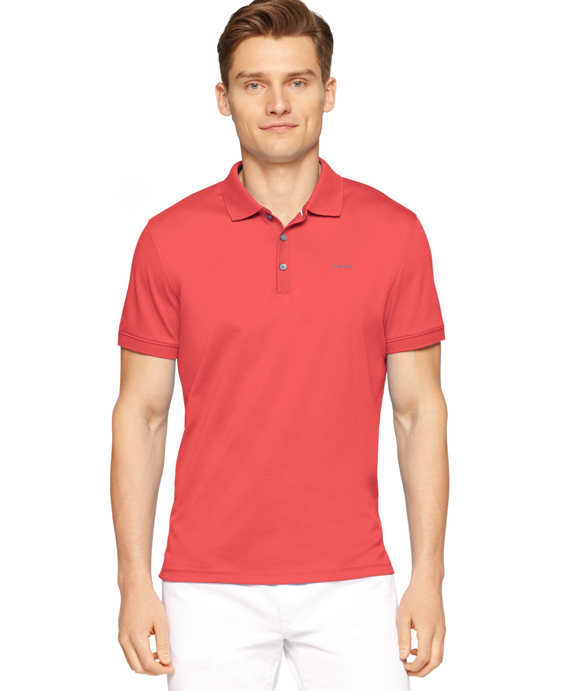 Calvin Klein Liquid-Cotton Polo