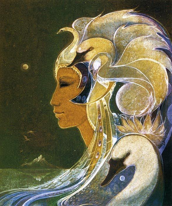 Erzuli o Ezili. Diosa del Vodou Lwa del amor y las mujeres que tiene muchas formas: desde la coqueta, a la madre feroz del guerrero, a la vieja arrugada que llora con los ojos rojos. Puede ser contada entre los Rada o Petwo lwa (espíritus o dioses). La fuerza de Erzulie, fue invocada cuando los dueños de esclavos destruyeron sus familias. Susan Seddon-Boulet.