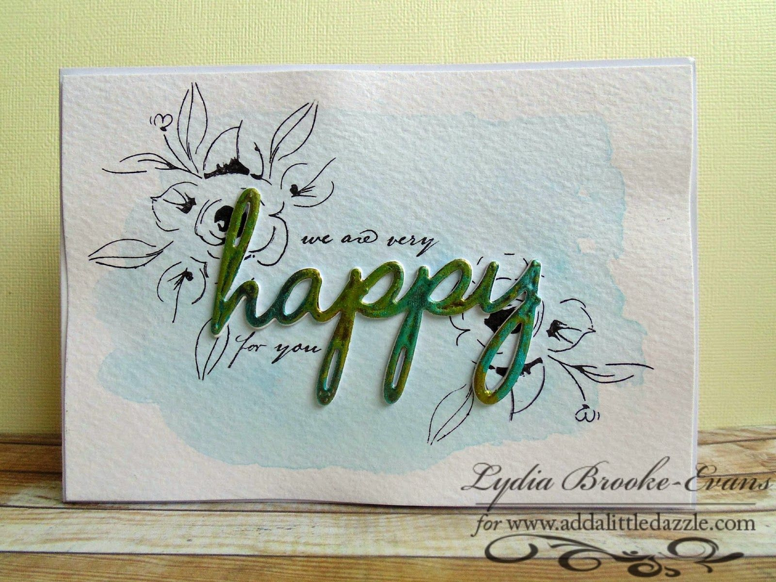 Love Lydia Brooke: Dazzling Diva Challenge #38 Altenew stamps and Add A Little Dazzle Metal Sheets