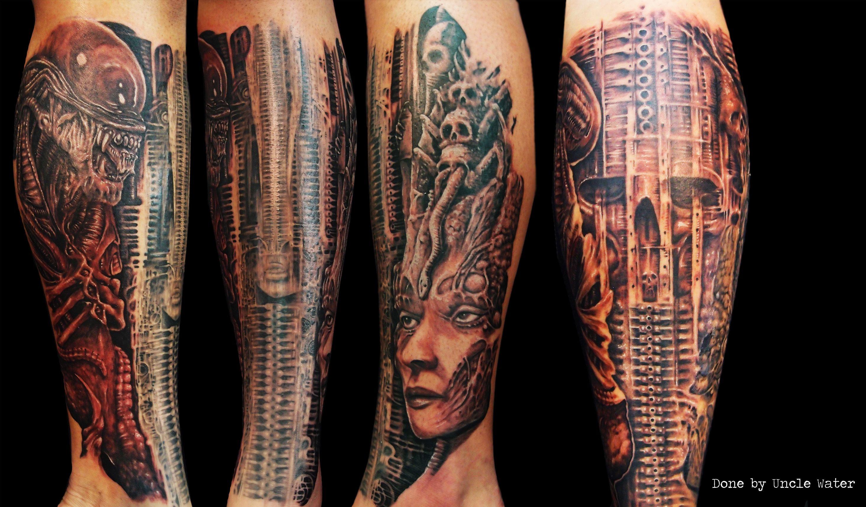 Hr giger tattoo designs - Hr Giger