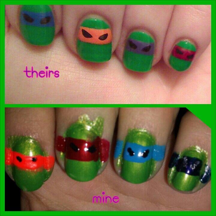 Tmnt nails   Pins I\'ve Tried   Pinterest   TMNT