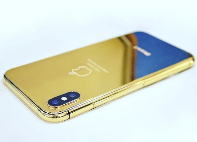 iPhone X 24k Gold   Limited Edition. Full Body Metal. Laser Engraved. Gold Plated. Beautiful. #linkinbio #limitededition #golden #iPhoneX #avai ...