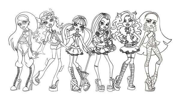 Dibujos De Las Monster High Para Colorear 8 Pasos