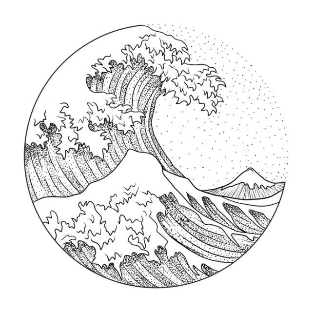 Pin by farrah 🌧 on doodles | Wave art, Wave drawing, Art ...Waves Drawing Tattoo