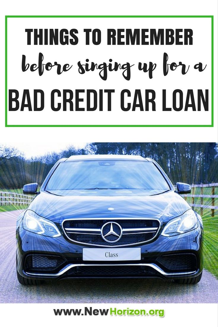Things To Remember Before Singing Up For A Bad Credit Car Loan