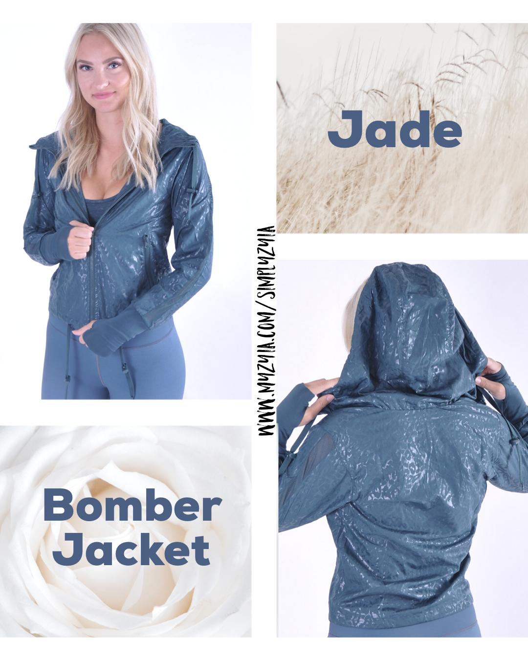 Jade Bomber Jacket Bomber Jacket Jackets Athleisure Wear [ 1350 x 1080 Pixel ]