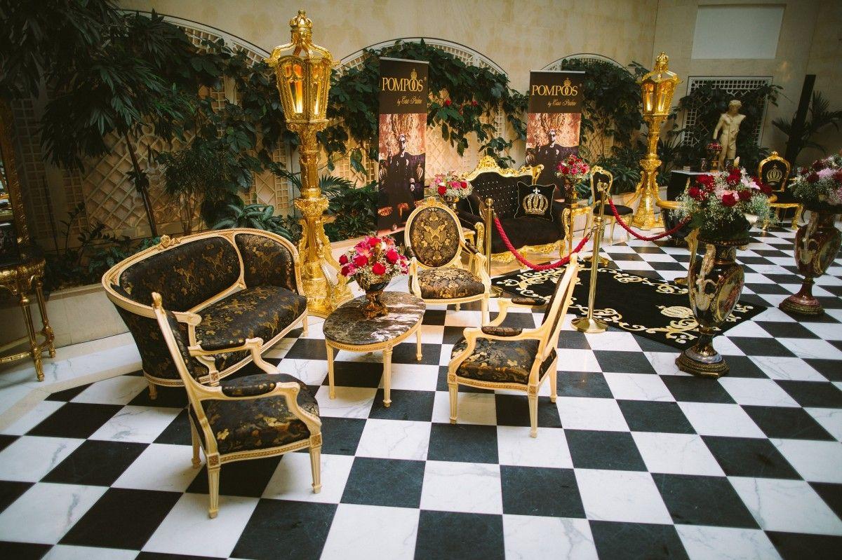 AuBergewohnlich Pompöös By Casa Padrino Barock Wohnzimmer Set Creme / Oliv Mit Goldenem  Muster   Pompööse Barock