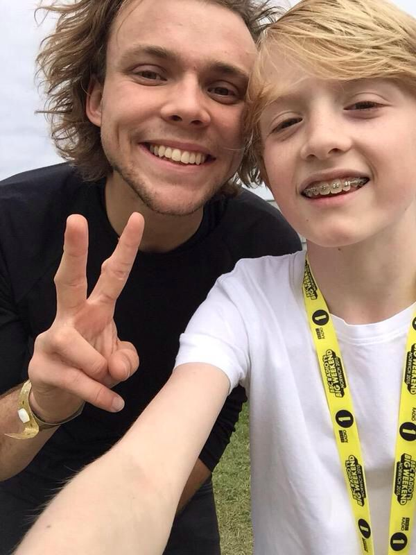 Ashton with a fan today