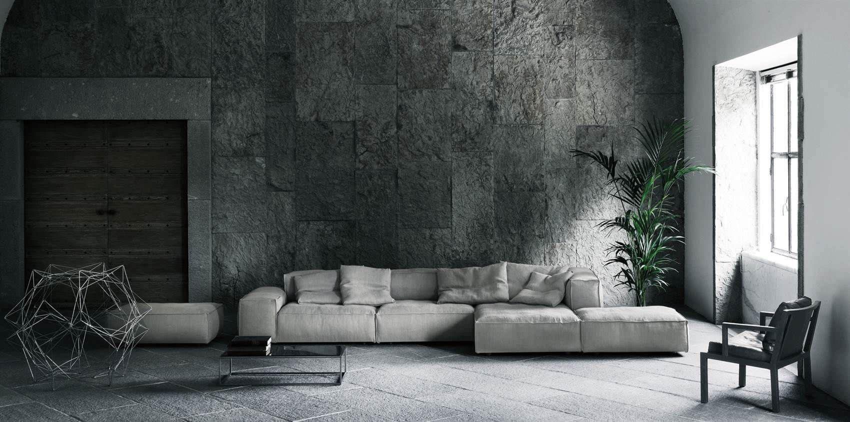 Sofá modular / moderno / de interior / de Piero Lissoni NEOWALL ...