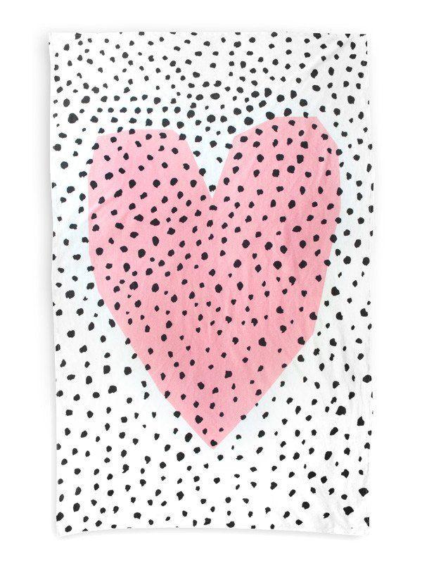 Spotty Heart Throw Blanket