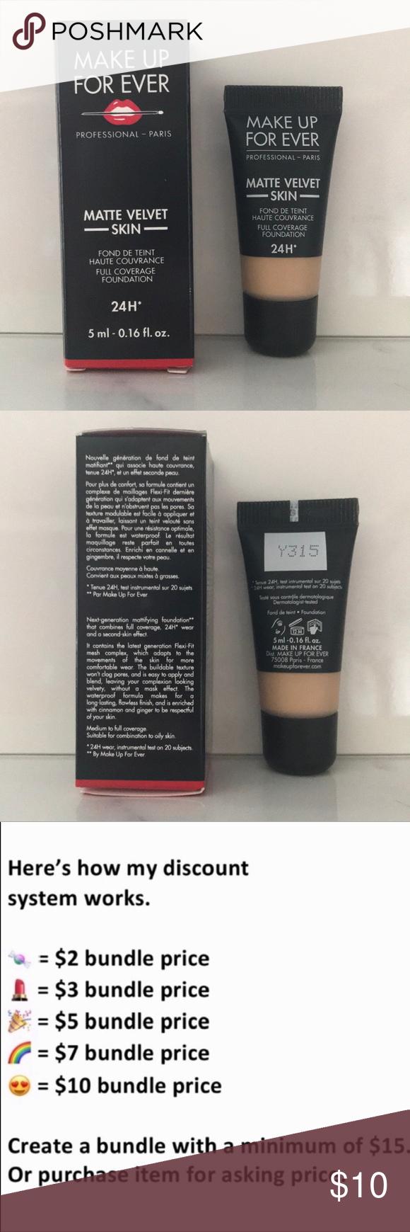 5/15 MakeUp Forever Matte Velvet Foundation Velvet skin