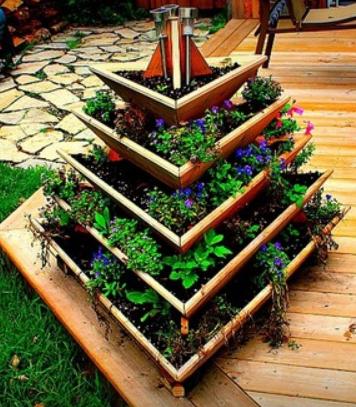Vertical 360 degree garden
