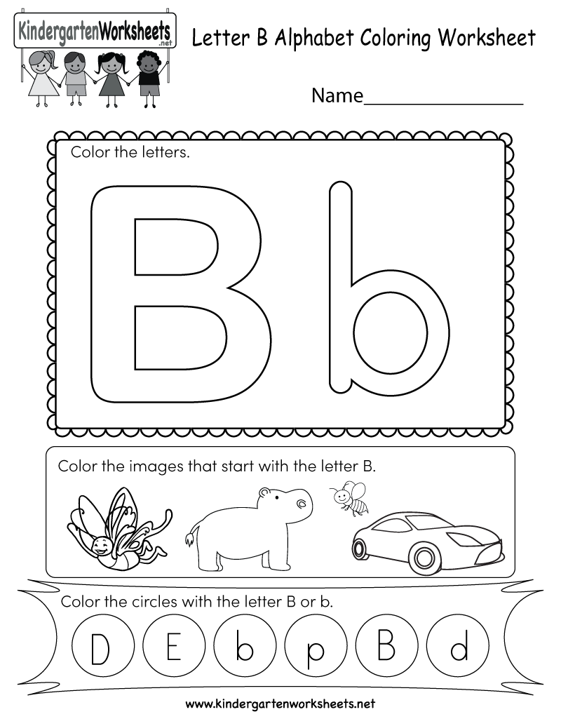 Letter B Coloring Worksheet Free Kindergarten English Worksheet For In 2020 Letter B Worksheets Coloring Worksheets For Kindergarten Alphabet Worksheets Kindergarten