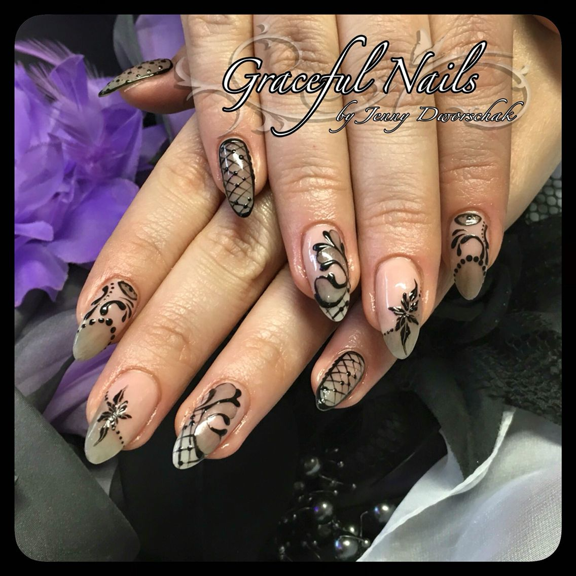 Nails Nägel Gelmalerei | Nails Fullcover French Malerei Gel Acryl ...