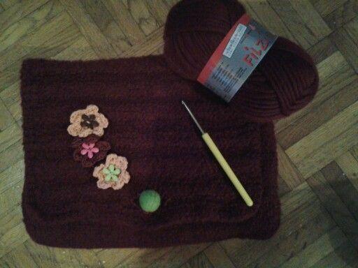 Pochette en laine à feutrée