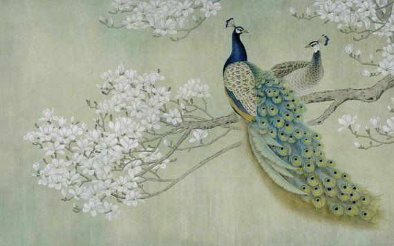 3D Peacock 105 views Wallpaper mural Wall Print Decal Wall