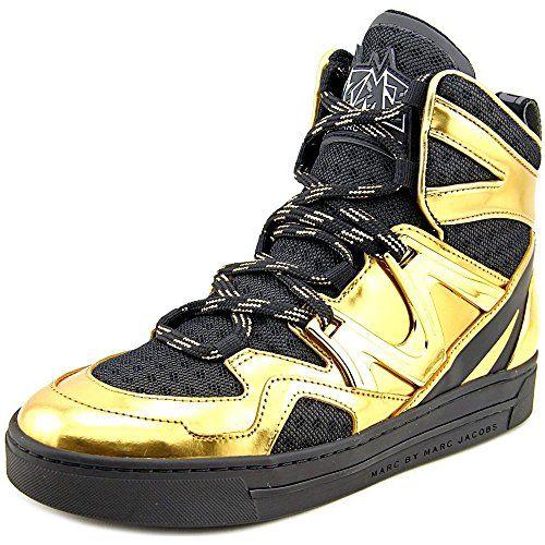 Marc  by  Marc  Jacobs  womens  ninja  hi  top  gold  fashion  sneaker  black gold