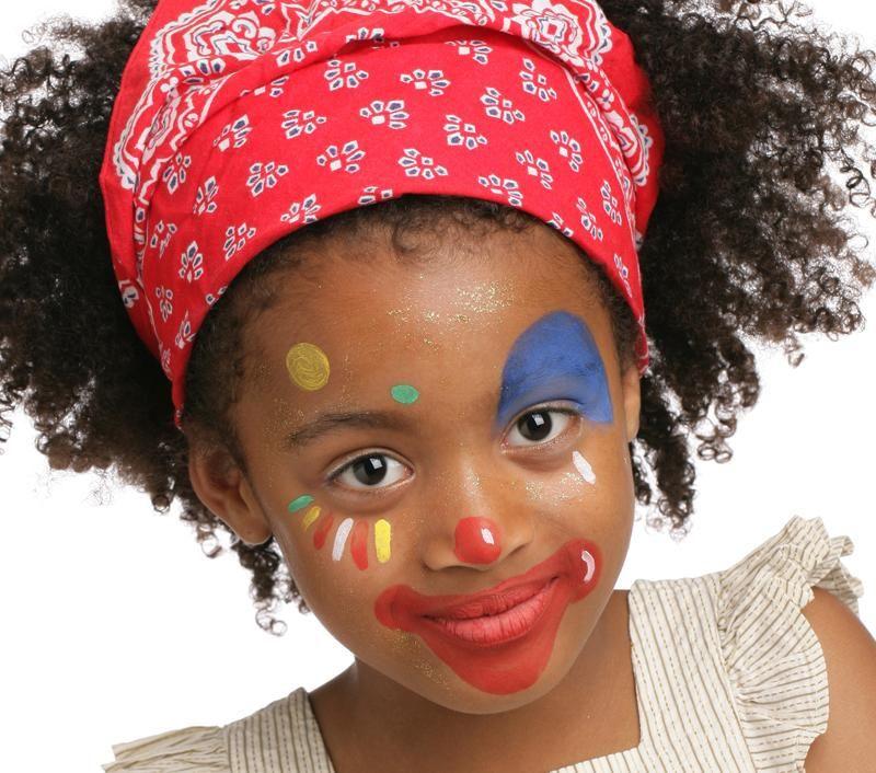 Grimtout maquillage l 39 eau petite clown cirque - Maquillage visage enfant ...