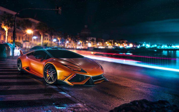 Night Supercars Lamborghini Huracan Lp Tuning