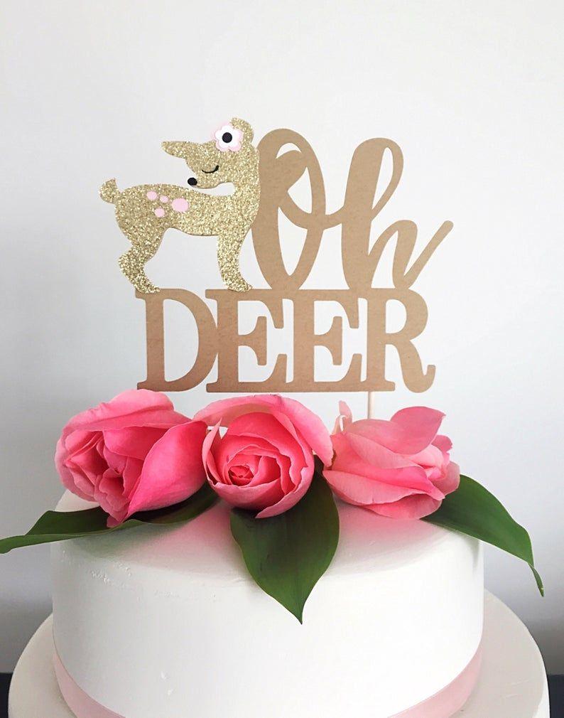 5f01c6ccc8f9f Oh Deer cake topper Baby Shower Deer decorations Deer theme   Etsy ...
