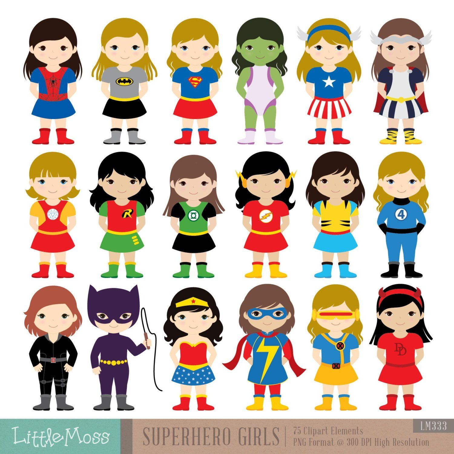 girls superhero costumes clipart superheroes clipart superhero