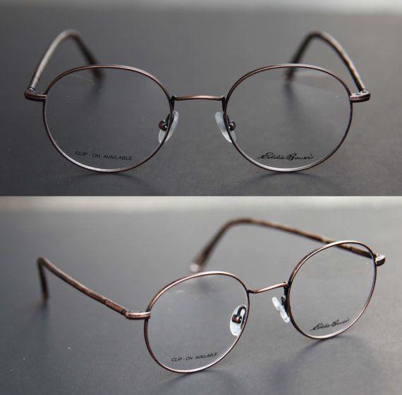 80s nos copper round steampunk wire frame eyeglasses by eddie bauer shenandoahdemo lenses - Eddie Bauer Eyeglass Frames