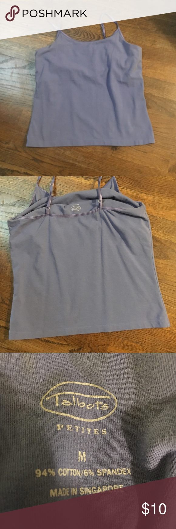Talbots lilac cami Talbots cami in lilac. Has adjustable straps and shelf bra. In great condition. Talbots Tops Camisoles